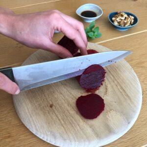 Zubereitung Rote Rüben Carpaccio